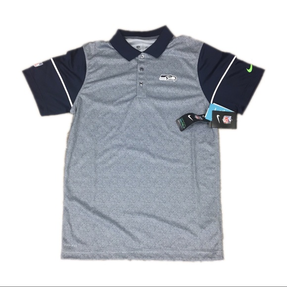 b64345f9 Nike Shirts | Seattle Seahawks Dri Fit Polo Shirt Medium | Poshmark
